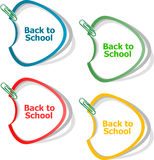 Back To School education banners Stock Photography