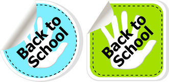 Back To School education banners Royalty Free Stock Images