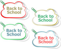 Back To School education banners, education Royalty Free Stock Photos