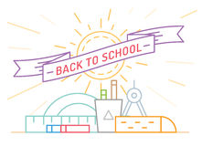 Back to school. Education, books, university and Royalty Free Stock Photos