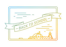 Back to school. Education, books, university and. College, board or knowledge book. Stock design elements Stock Image
