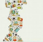 Back to School education cartoon icons. vector illustration