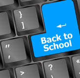 Back to school, Education concept: computer keyboard, back to school Stock Photo