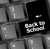 Back to school, Education concept: computer keyboard, back to school Royalty Free Stock Images