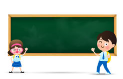 Back to school and education concept, Happy cartoon  kids  boy a Stock Images