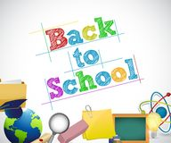 Back to school education concept illustration Royalty Free Stock Images