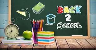 Free Back To School Education Drawings On Blackboard For School Royalty Free Stock Photo - 120881835