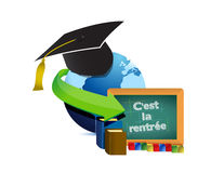Back to school education in french Royalty Free Stock Photos