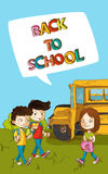 Back to school education kids with social bubble. Stock Photography