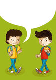 Back to school education kids with social bubble. Royalty Free Stock Photos