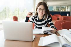 Back to school education knowledge college university concept, Young people being used computer and tablet, Education and technolo royalty free stock image