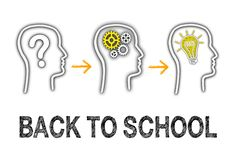 Back to School - Education and Learning. Concept on white background stock illustration