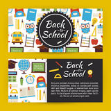 Back to School and Education Modern Flat Style Vector Template B Stock Photography