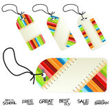 Back to school education retail tags Royalty Free Stock Image