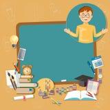 Back to school education school board schoolboy classroom Royalty Free Stock Image