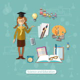 Back to school, education, schoolgirl Royalty Free Stock Photos