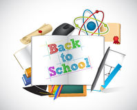 Back to school education tools sign concept Royalty Free Stock Images