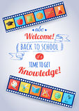 Back to school and education typographical Royalty Free Stock Images
