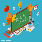Back to school, education vector illustration Royalty Free Stock Photography