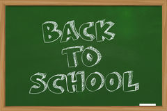 Back To School. Educational concept the words Back To School written with chalk on green chalkboard Royalty Free Stock Images