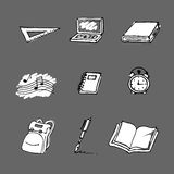 Back to school elements. Vector back to school elements. Doodle style. See more in my gallery Stock Photos