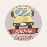 Back to school  emblem Stock Photography