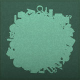 Back to School on Empty realistic green board Seamless children Royalty Free Stock Photography