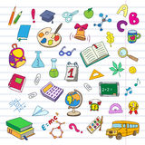 Back to school on a exercise book sheet grid Royalty Free Stock Photo