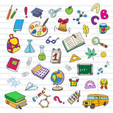 Back to school on a exercise book sheet grid Royalty Free Stock Photography