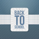 Back to School festive Badge on paper Ribbon Stock Images