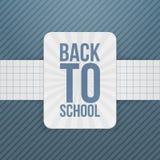 Back to School festive Badge on paper Ribbon. Vector Illustration Stock Images