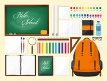 Free Back To School Flat Background. Online Education And Study. Teacher, Student. September 1. Stock Photo - 135289770