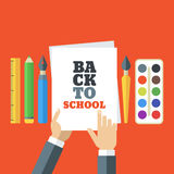 Back to school flat creative illustration Royalty Free Stock Images