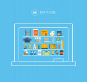 Back to school flat icons design Stock Image