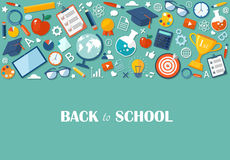 Back to school flat illustration Royalty Free Stock Photography