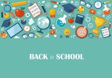 Back to school flat illustration