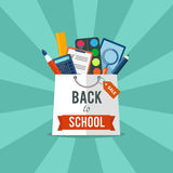 Back to school flat illustration Stock Photos