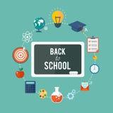 Back to school flat illustration Stock Images