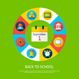 Back to School Flat Infographic Concept Stock Photography