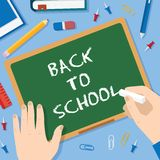 Back to School Flat Style Blackboard Vector Stock Image