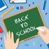 Back to School Flat Style Blackboard Vector Stock Image
