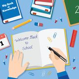 Back to School Flat Style Vector Background With Royalty Free Stock Photos