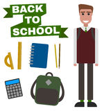 Back to school flat Stock Photography