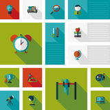 Back to school flat ui background,eps10. Vector illustration file royalty free illustration