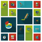 Back to school flat ui background,eps10 Royalty Free Stock Photography
