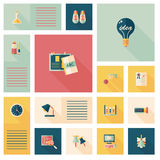 Back to school flat ui background,eps10 Royalty Free Stock Photos