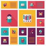 Back to school flat ui background,eps10 Stock Photography