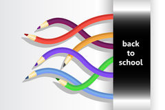 Back to school  with flexible pencils Royalty Free Stock Photos