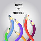 Back to school  with flexible pencils Royalty Free Stock Photography