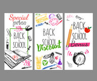 Back To School Flyer Set Royalty Free Stock Image